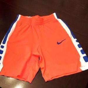 Nike Dri-Fit Orange Blue Shorts Sz M